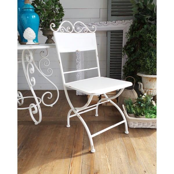 Kovová stolička Oldie White