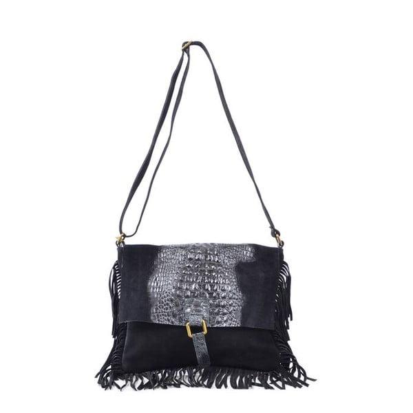 Kožená kabelka Madhia, čierna