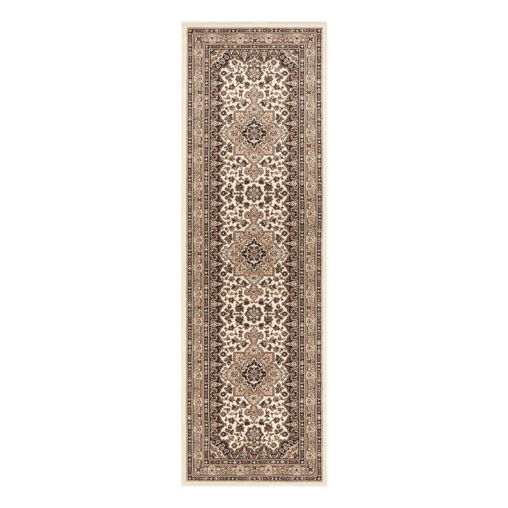 Béžový koberec Nouristan Parun Tabriz, 80 x 250 cm