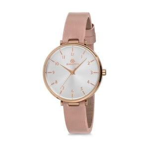 Dámske hodinky s růžovým koženým remienkom Bigotti Milano Sarah