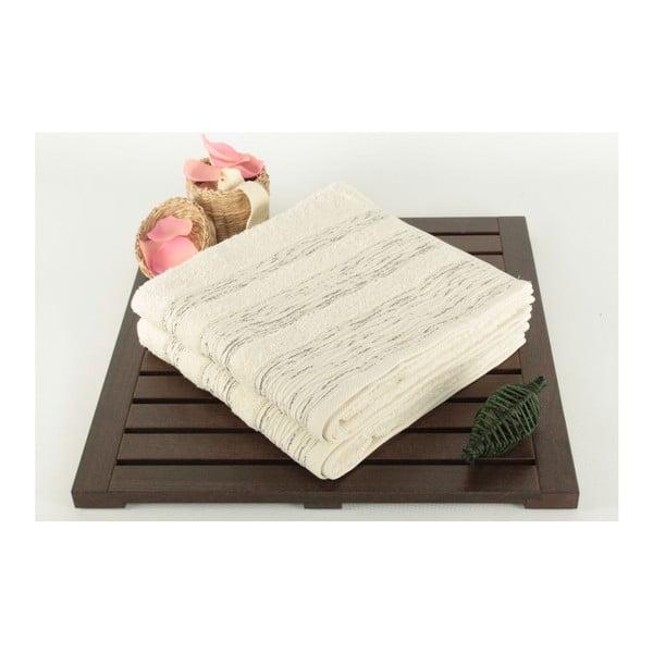 Sada 2 uterákov Cizgili Cream, 50x90 cm