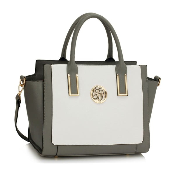 Kabelka L&S Teri Grey & White