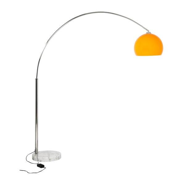 Stojacia lampa s oranžovým tienidlom a mramorovou základňou Kokoon Loft