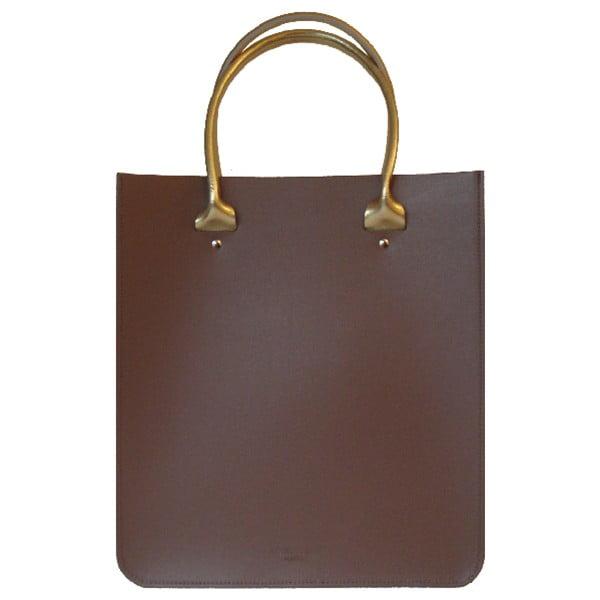 Kožená kabelka Two Tone Plum Chestnut/Gold