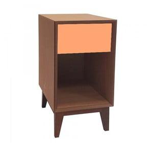 Veľký nočný stolík s oranžovou zásuvkou Ragaba PIX