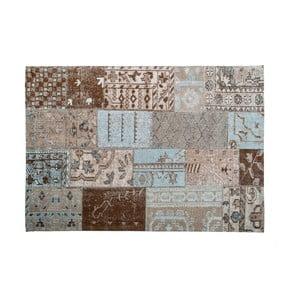 Hnedý koberec s prímesou bavlny Cotex India, 140 × 200 cm