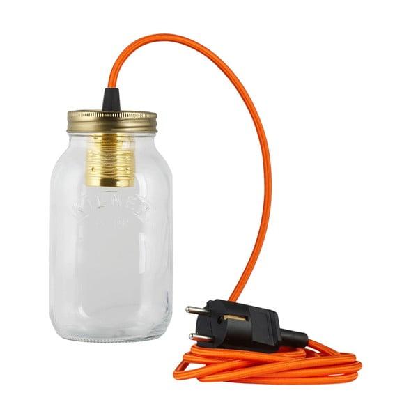 Svietidlo JamJar Lights, oranžový okrúhly kábel
