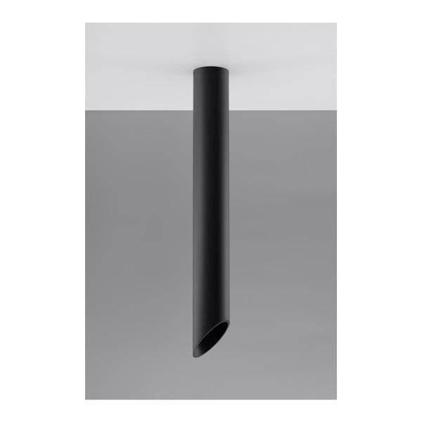 Čierne stropné svetlo Nice Lamps Nixon, dĺžka 80 cm