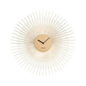 Nástenné hodiny v zlatej farbe Karlsson Peony, ø 45 cm