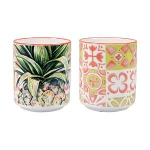 Sada 2 porcelánových hrnčekov bez ucha Sema Tropical