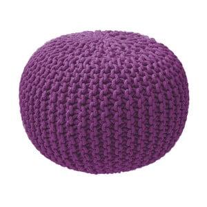 Fialový pletený puf ZicZac