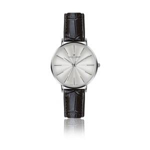 Dámske hodinky s čiernym remienkom z pravej kože Frederic Graff Silver Monte Rosa Croco Black Leather