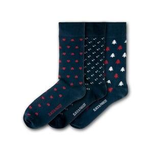 Sada 3 párov ponožiek Black & Parker London Dragon, vel. 37 - 43