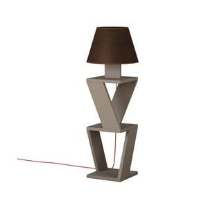 Hnedá voľne stojacia lampa Kozena Light Mocha Brown