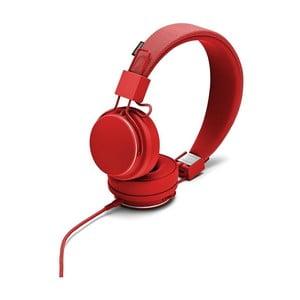 Červené slúchadlá s mikrofónom Urbanears Plattan II Tomato
