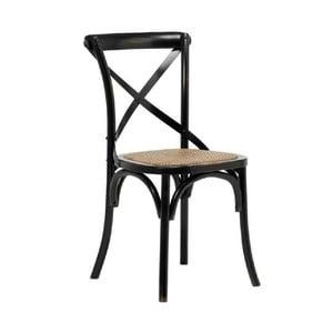 Sada 2 čiernych jedálenských stoličiek Interstil Vintage