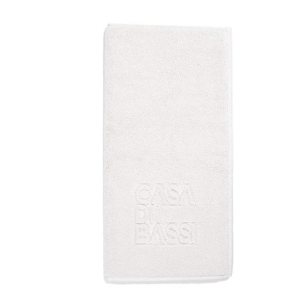 Biela bavlnená kúpeľňová predložka CasaDiBassi Basic, 50x70cm