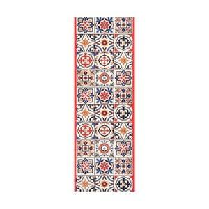 Červený behúň White Label Mosaic, 100×65 cm
