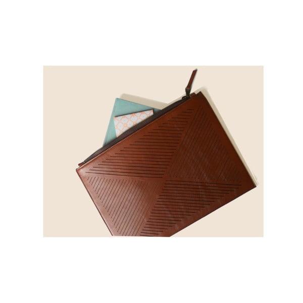 Taška cez rameno/listová kabelka Cut Out, hnedá