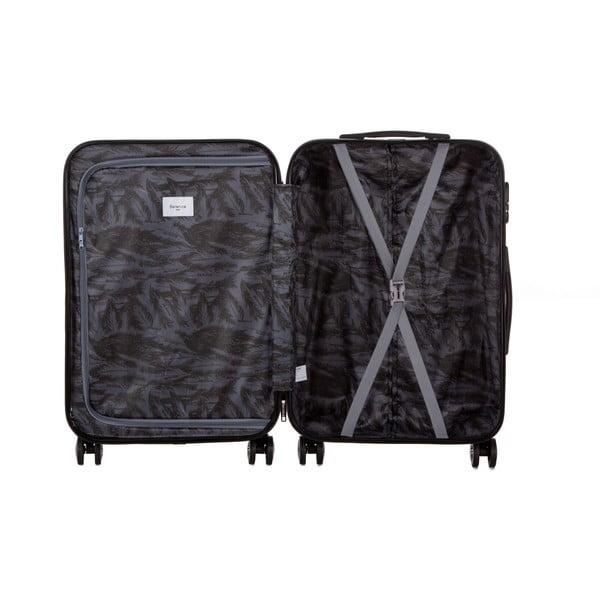 Tmavomodrý cestovný kufor Berenice Typo, 71 l