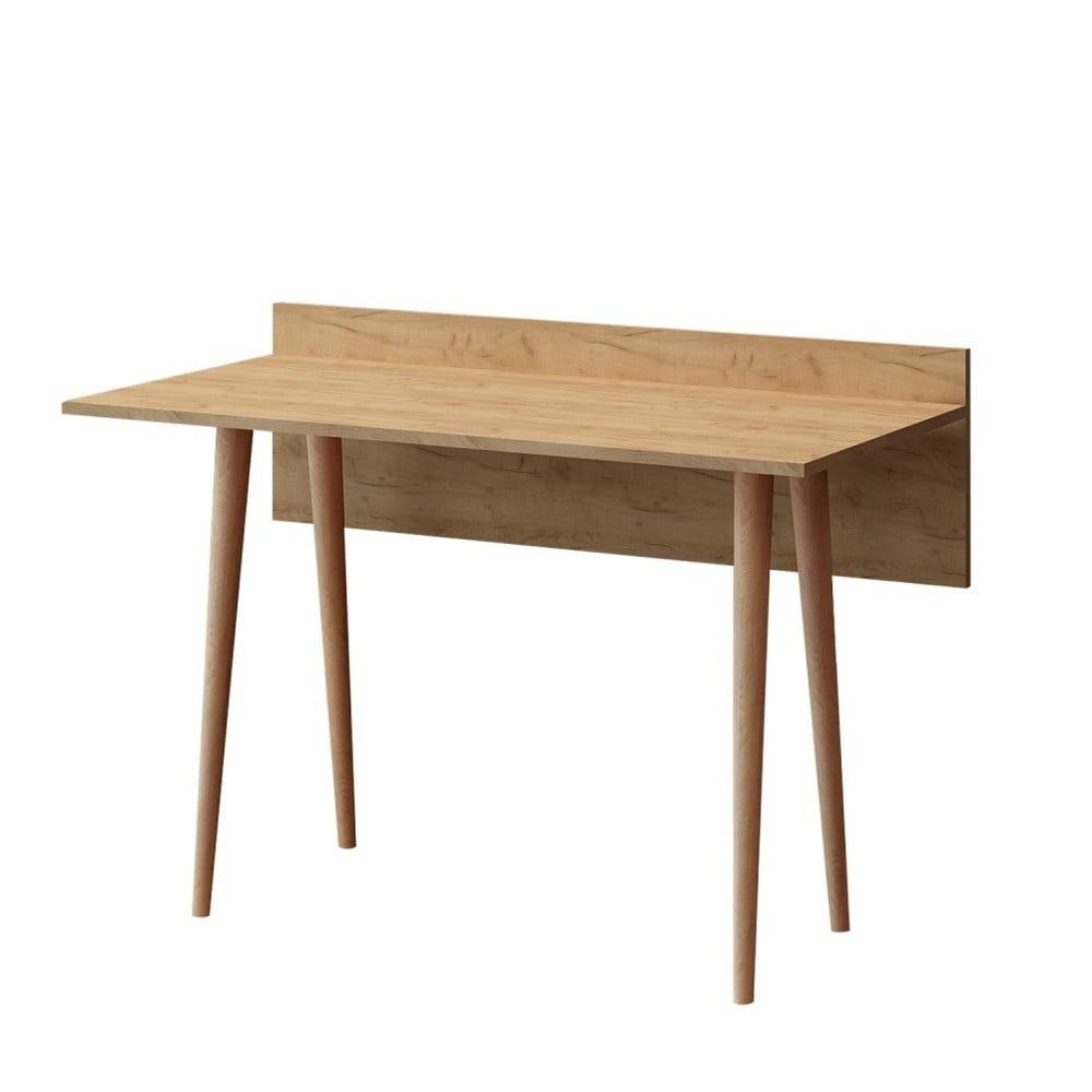 Hnedý pracovný stôl Imma