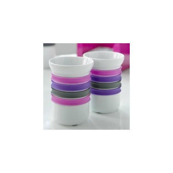 Sada 2 porcelánových hrnčekov na čaj Steel Function Porto, 200 ml
