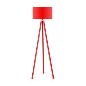 Stojacia lampa s červeným tienidlom Kate Louise Redish