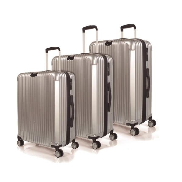 Sada 3 kufrov Jaslen, strieborná