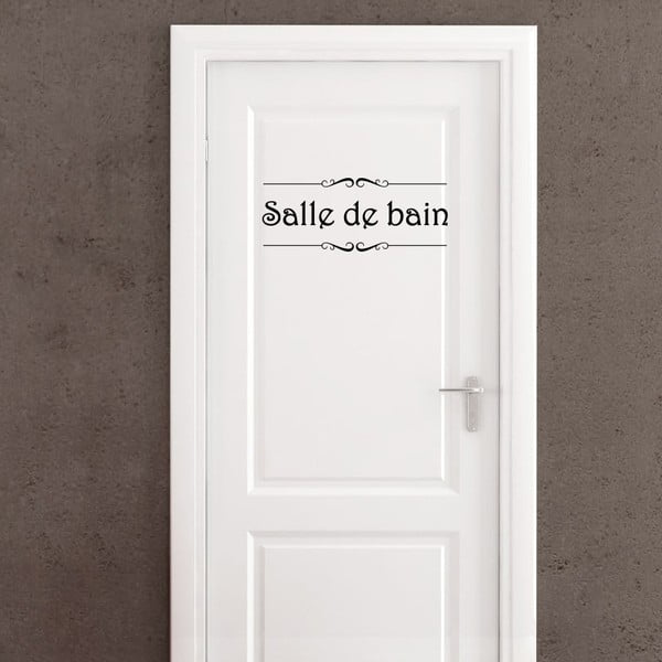 Samolepka Ambiance Salle de bain + Toilettes