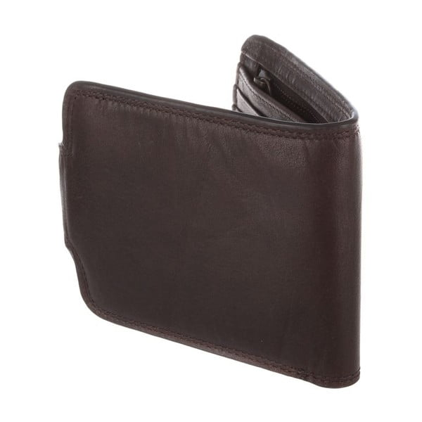 Kožená peňaženka Clark Darkest Brown
