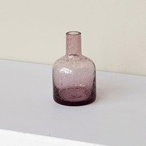 Ružová váza zo skla s bublinkami ComingB