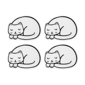 Sada 4 podtáciek v tvare mačky Sass & Belle Cutie Cat