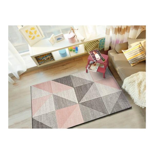 Ružovo-sivý koberec Universal Retudo Naia, 140×200 cm