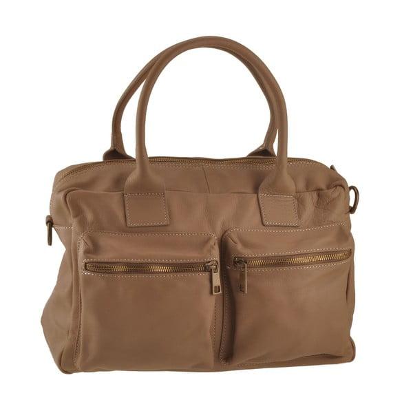 Hnedá kožená kabelka Ore Diece Stama