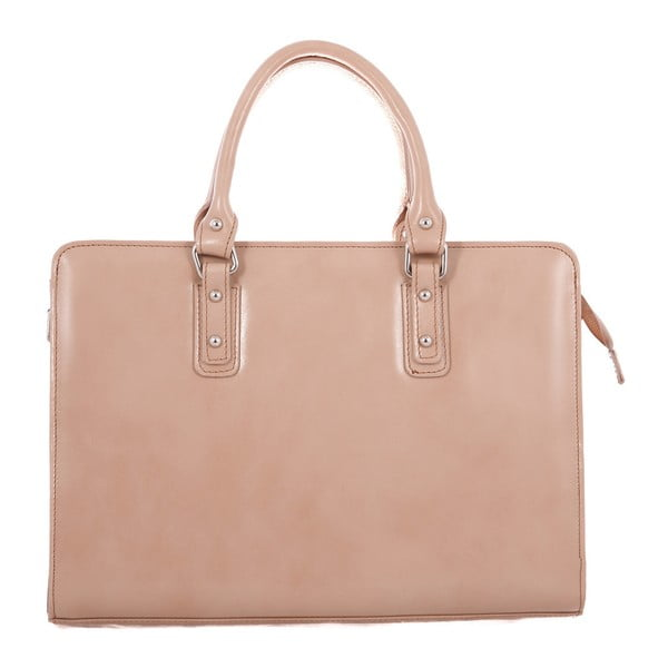 Taupe kožená taška Camilla