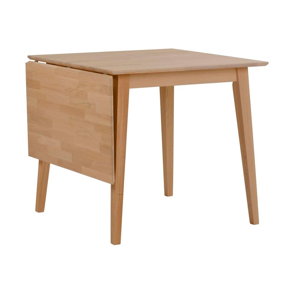 Prírodný sklápací dubový jedálenský stôl Rowico Mimi, 80 x 80 cm