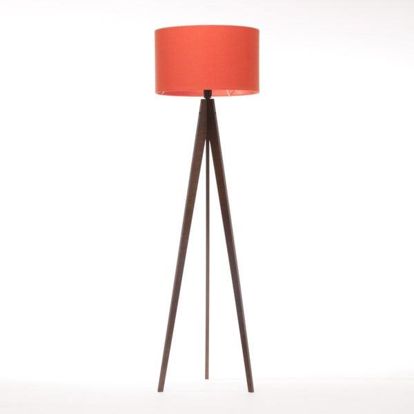 Červená stojacia lampa Artist, hnedá lakovaná breza, 150 cm