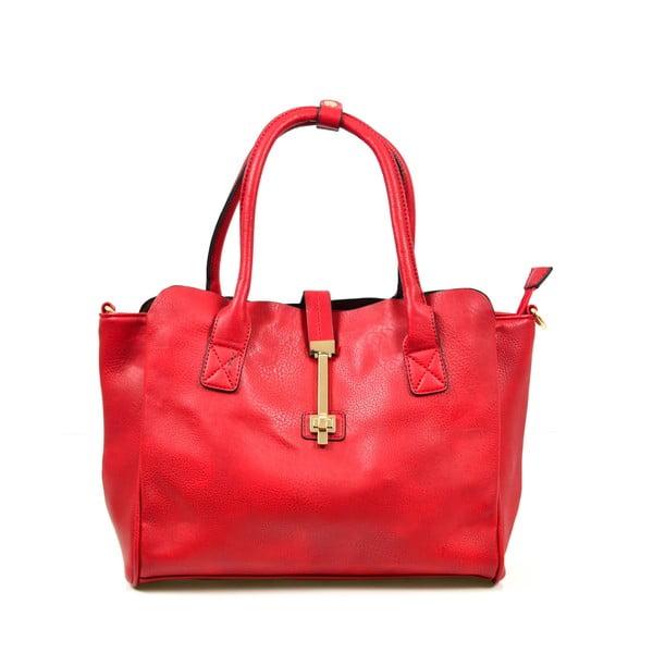 Kožená kabelka Alessia, červená
