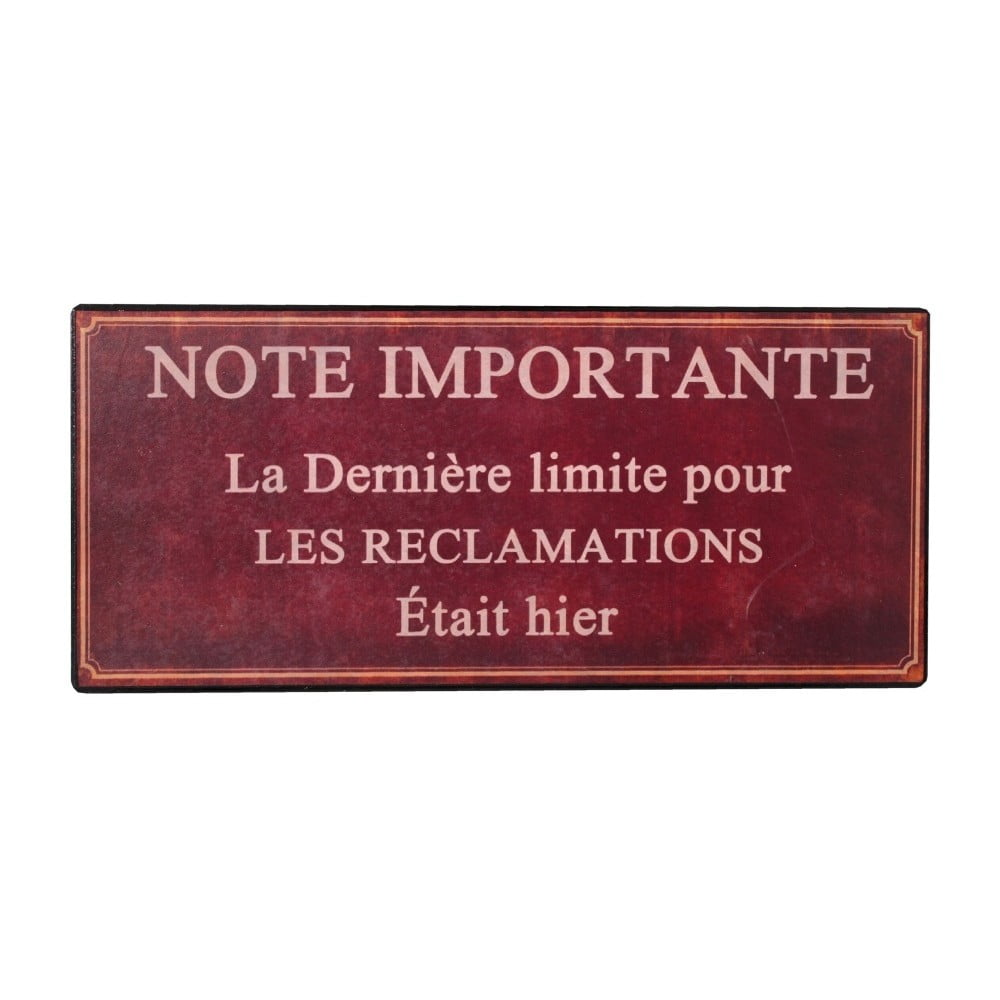 Plechová ceduľa Antic Line Note Importante