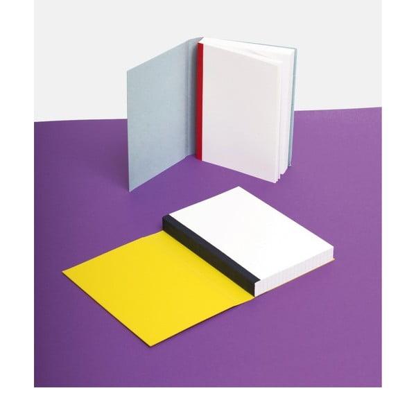 Zápisník FANTASTICPAPER A5 Ocean/Silver, štvorčekový