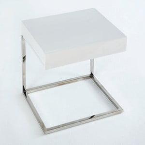 Nočný stôl s bielou doskou Thai Natura Man