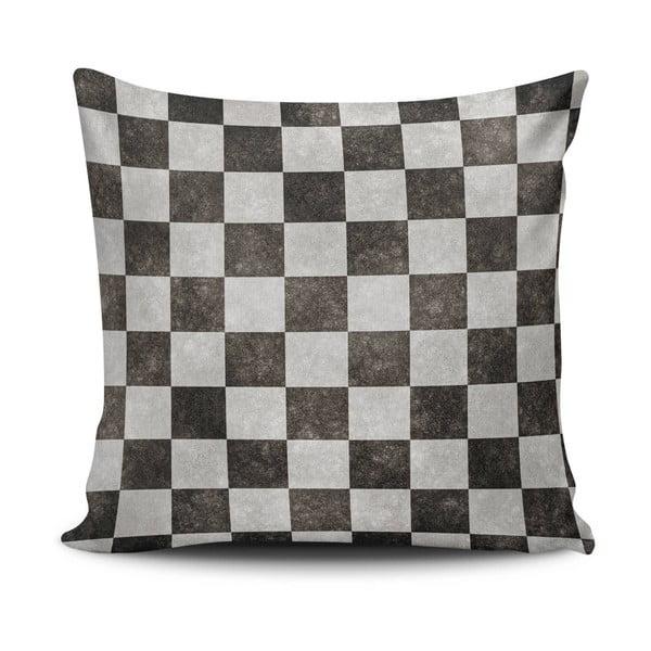 Vankúš s výplňou Black and Grey, 45x45 cm