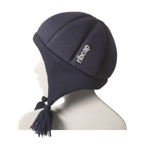 Detská modrá čapica s ochrannými prvkami Ribcap Chessy, veľ. L