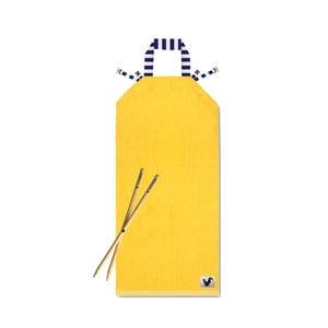 Žlté plážové ležadlo Origama Blue Stripes