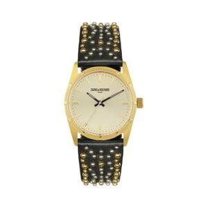 Dámske hodinky s čiernym remienkom Zadig & Voltaire Vintage Dream