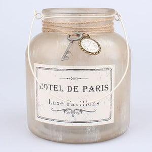 Závesný sklenený svietnik s dekoráciou Dakls