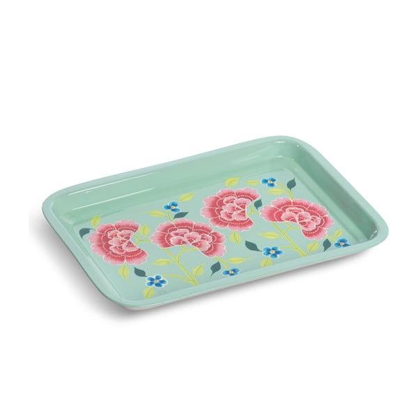 Tácka Franjipani Floral Tray, zelený