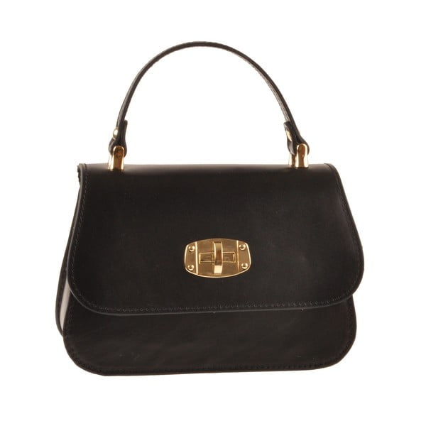 Kožená kabelka Flaux, čierna