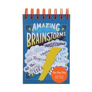 Zápisník s perom Chronicle Books Amazing Brainstorms
