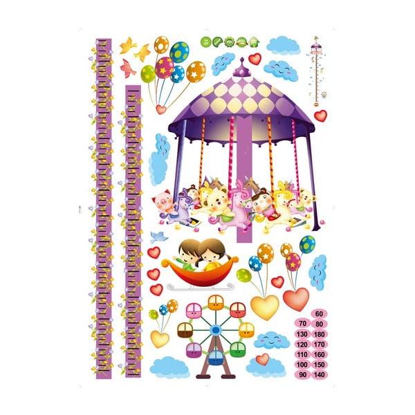 Samolepka s metrom Fanastick Carousel and Balloons